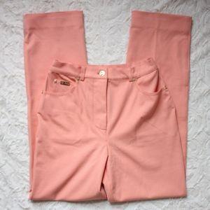 St. John Sport Salmon Peach High Waist Trousers 2